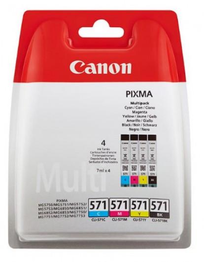 Canon CLI571 Tintapatron 4 db-os szett - Ink Cartridge Four-Pack 0,26K cián, magenta, sárga, fekete, eredeti