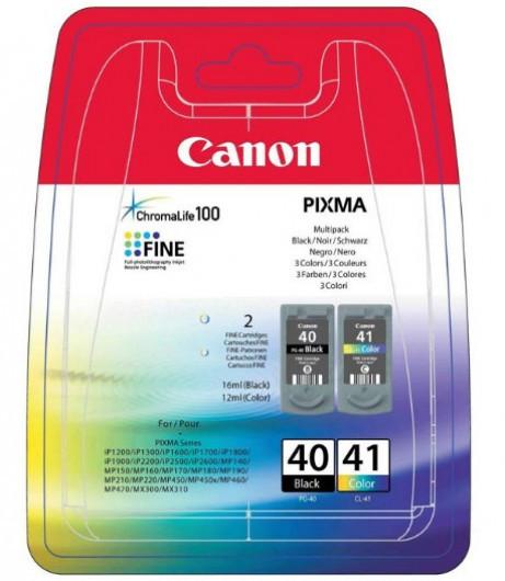Canon PG40 Tintapatron 2 db-os szett - Ink Cartridge Duo-Pack 0K fekete, színes, eredeti
