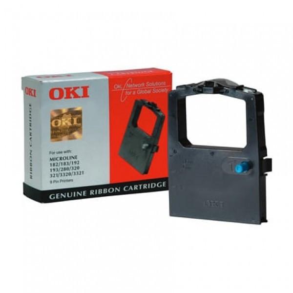 OKI 100/320 Festékszalag - ribbon, fekete (Black), eredeti