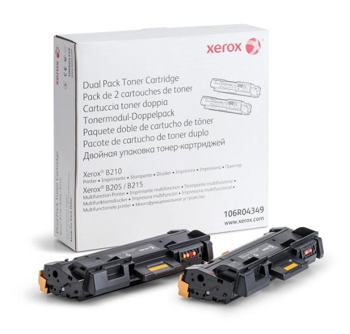XEROX B205, B210, B215 Toner 2db-os szett - Toner Duo-Pack fekete (Black), eredeti