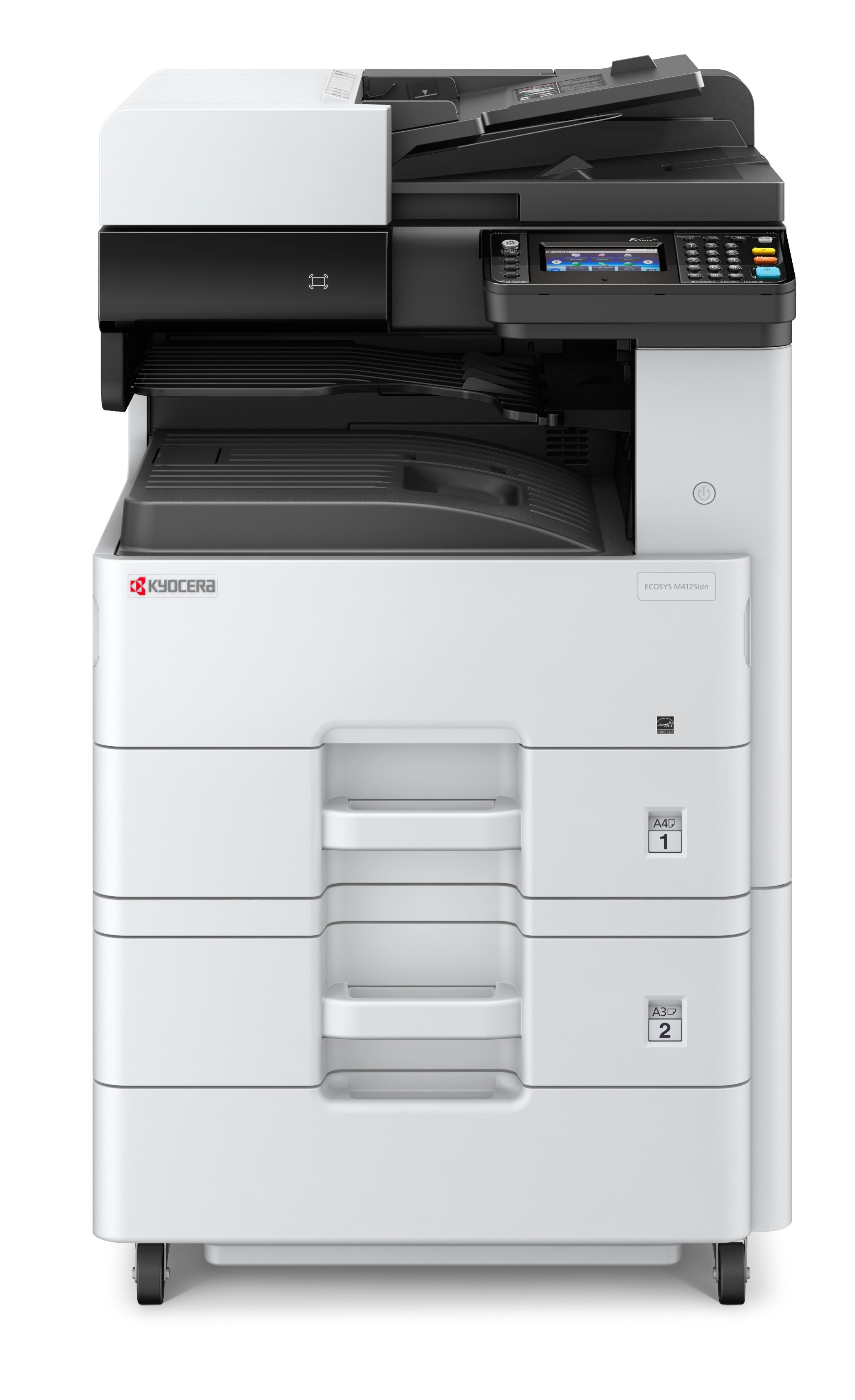 Kyocera M4125IDN +PF470 szett A3, mono, lézer multifunkciós nyomtató hálózatos, duplex