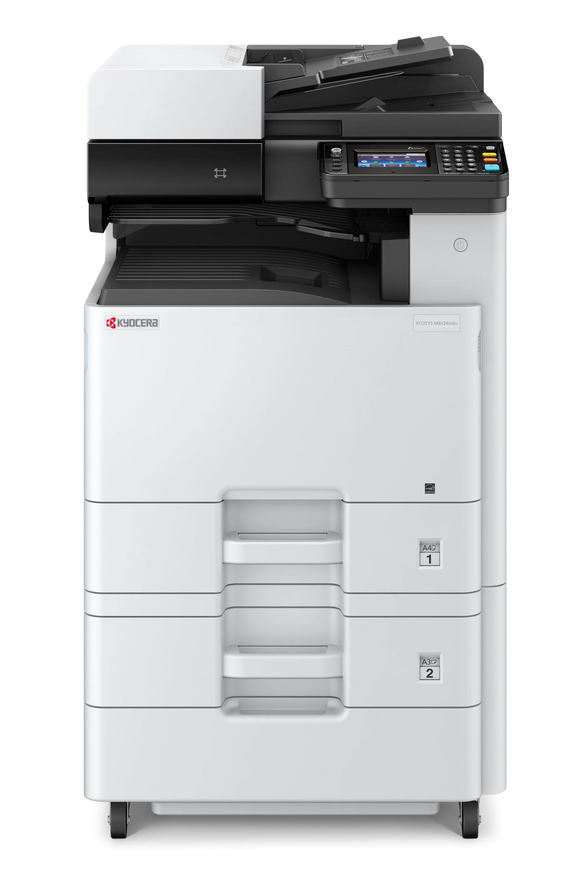 Kyocera ECOSYS M8124CIDN +PF470 SZETT A3, színes, lézer multifunkciós nyomtató hálózatos, duplex