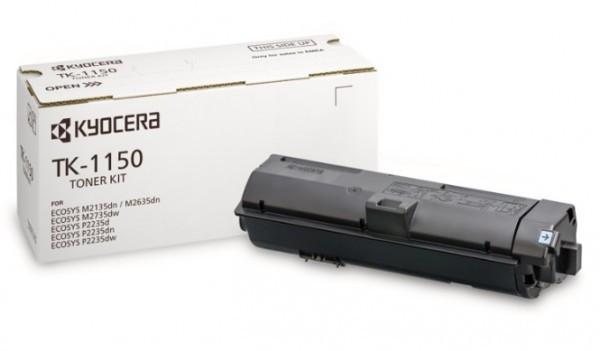 Kyocera TK-1150 Toner - festékkazetta 3K fekete (Black), eredeti