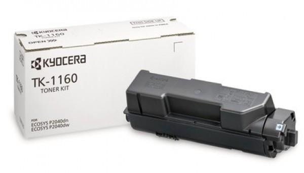 Kyocera TK-1160 Toner - festékkazetta 7,2K fekete (Black), eredeti