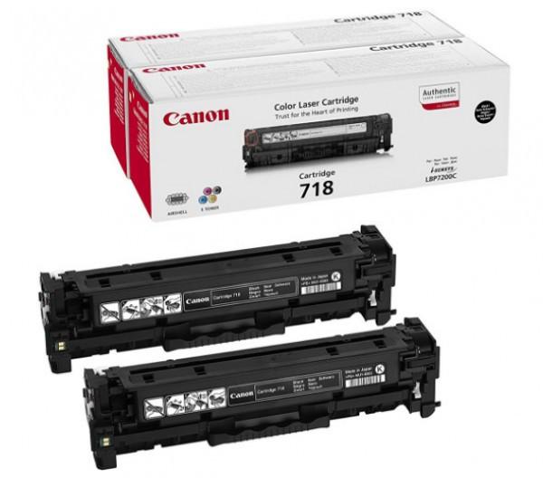 Canon CRG718 Toner 2 db-os szett - Toner Duo-Pack 6,8K fekete (Black), eredeti