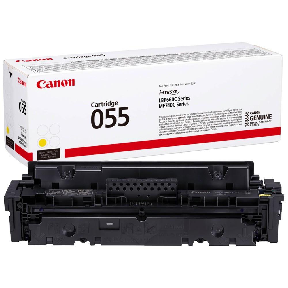 Canon CRG055 Toner - festékkazetta 2,1K sárga (Yellow), eredeti