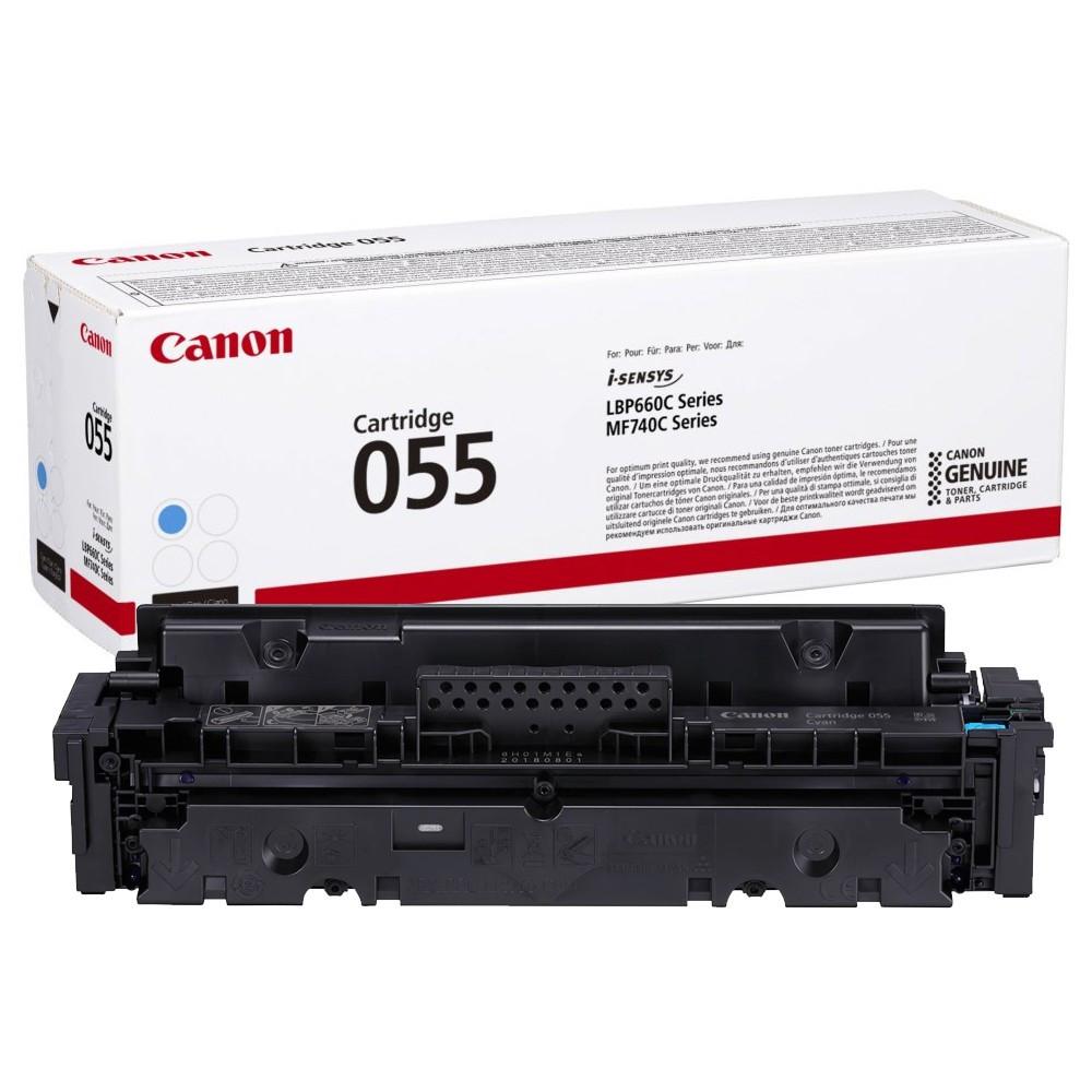 Canon CRG055 Toner - festékkazetta 2,1K cián (kék), eredeti