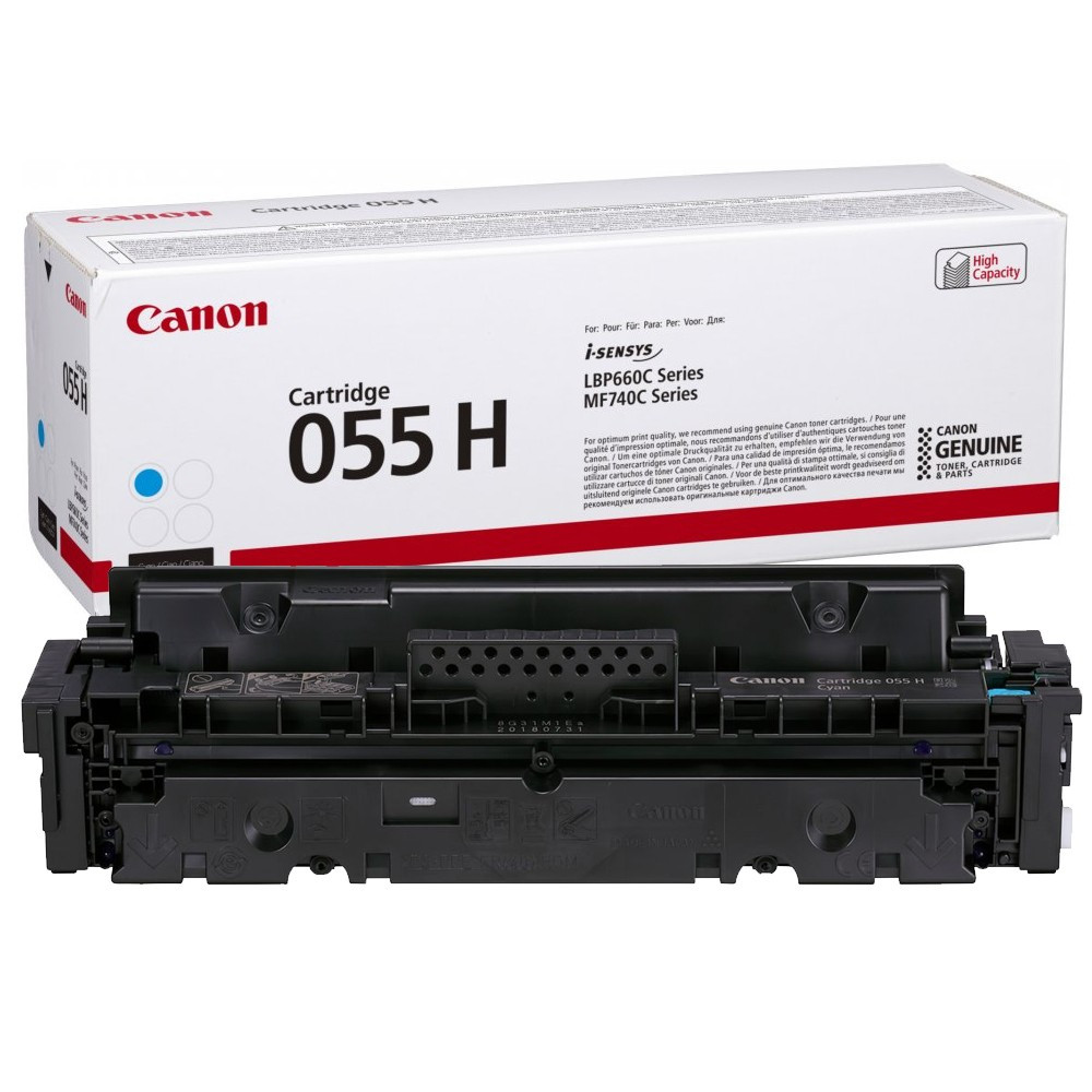 Canon CRG055H Toner - festékkazetta 5,9K cián (kék), eredeti