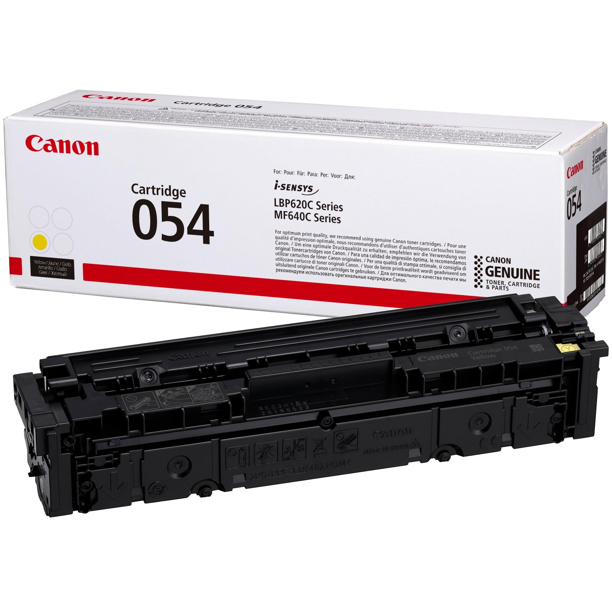 Canon CRG054 Toner - festékkazetta 1,2K sárga (Yellow), eredeti