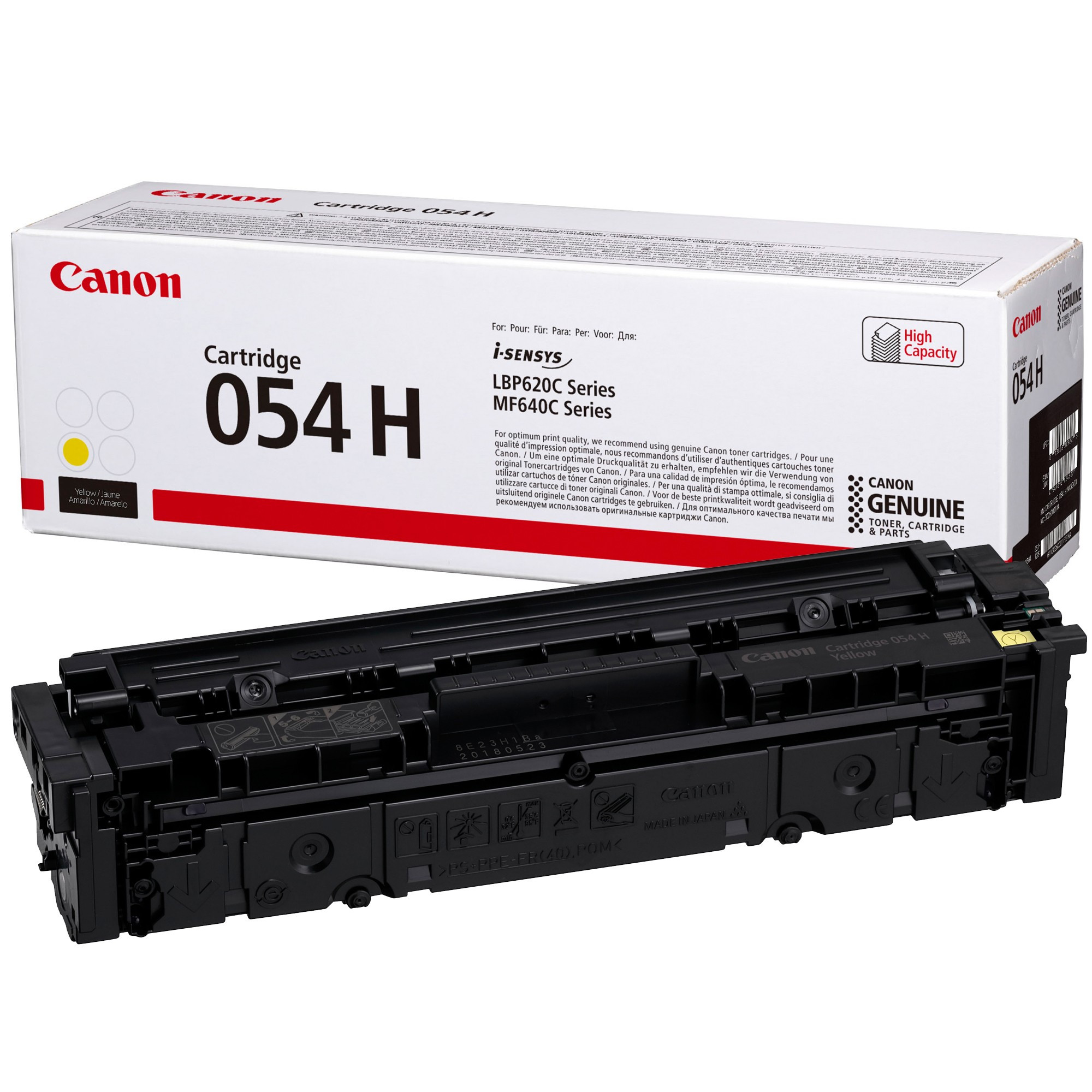 Canon CRG054H Toner - festékkazetta 2,3K sárga (Yellow), eredeti