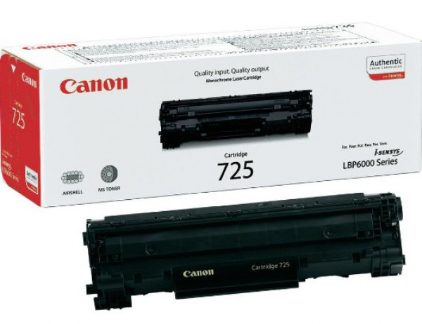 Canon CRG725/LBP6000 Toner - festékkazetta 1,6K fekete (Black), eredeti