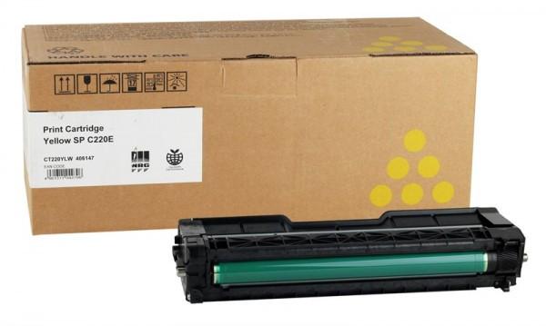 Ricoh SP C220N/C221N/C222DN/C220S/C221SF/C222SF/220/AIO/YLAIOC220ECHN Toner - festékkazetta 2K sárga (Yellow), eredeti