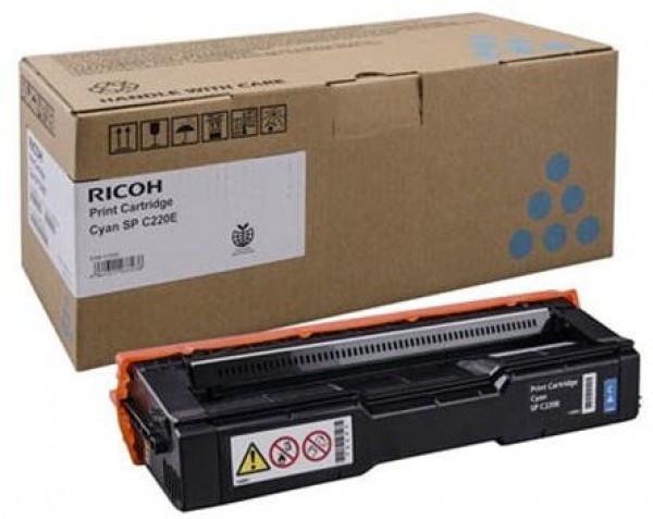 Ricoh SP C220N/C221N/C222DN/C220S/C221SF/C222SF/220/AIO/CYAIOC220ECHN Toner - festékkazetta 2K cián (kék), eredeti