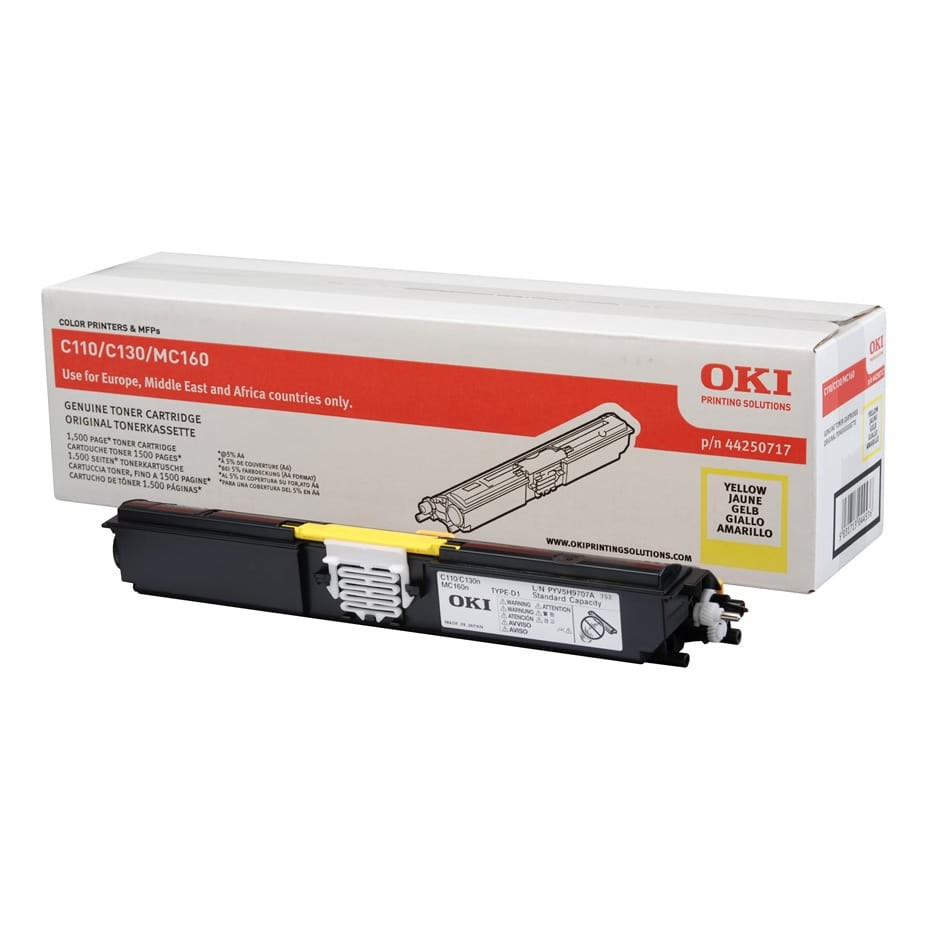 OKI C110/130 Toner Yellow 1,5K (Eredeti)