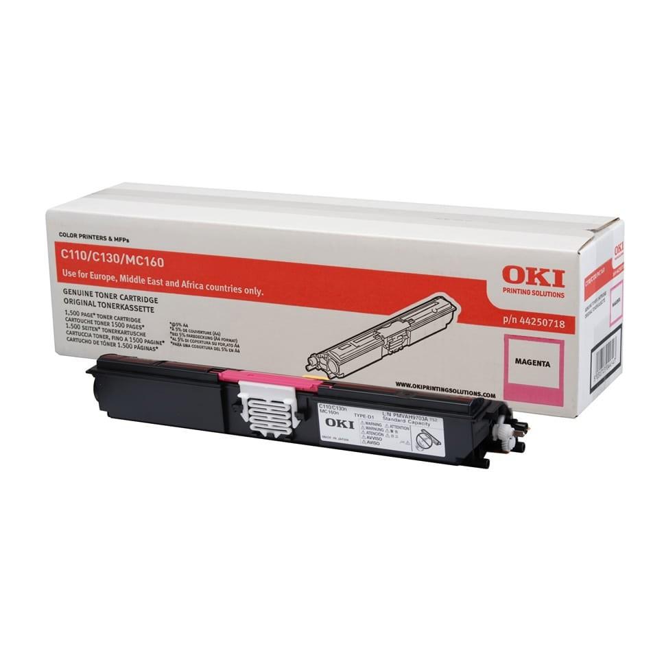 OKI C110/130 Toner Magenta 1,5K (Eredeti)