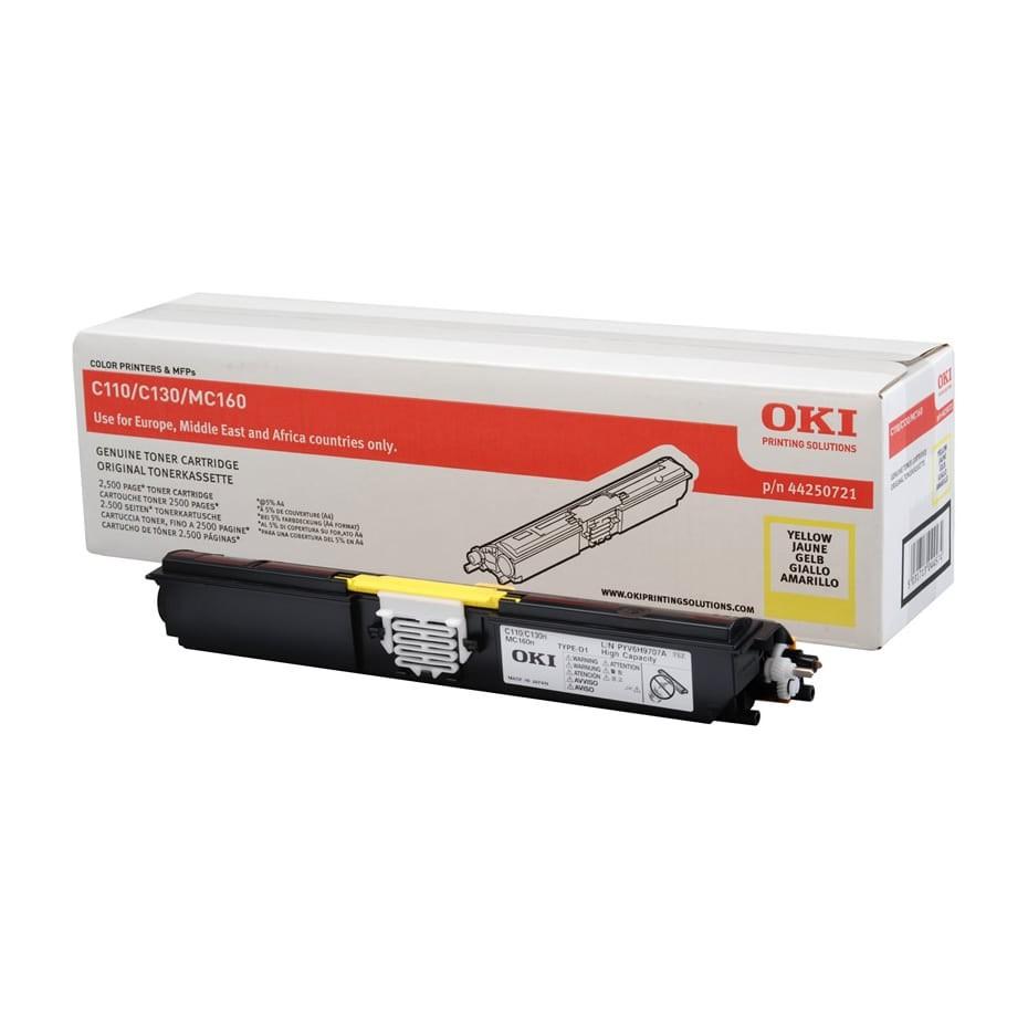 OKI C110/130 Toner Yellow 2,5K (Eredeti)