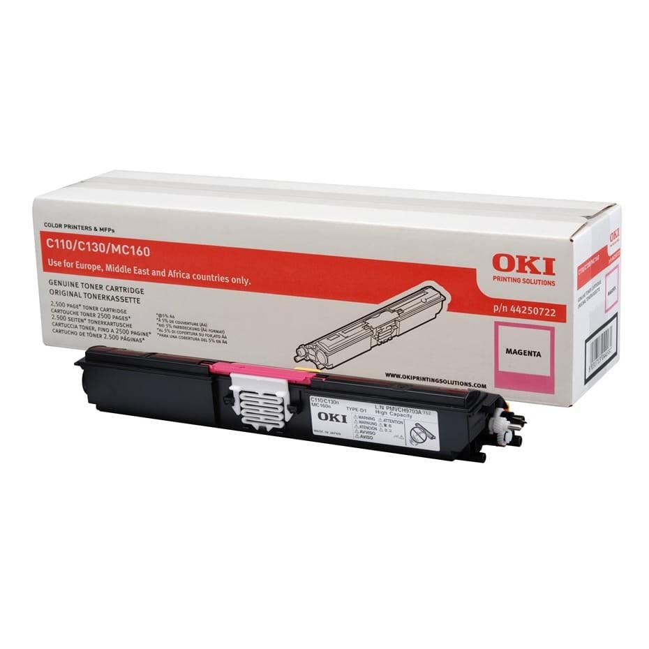 OKI C110/130 Toner Magenta 2,5K (Eredeti)