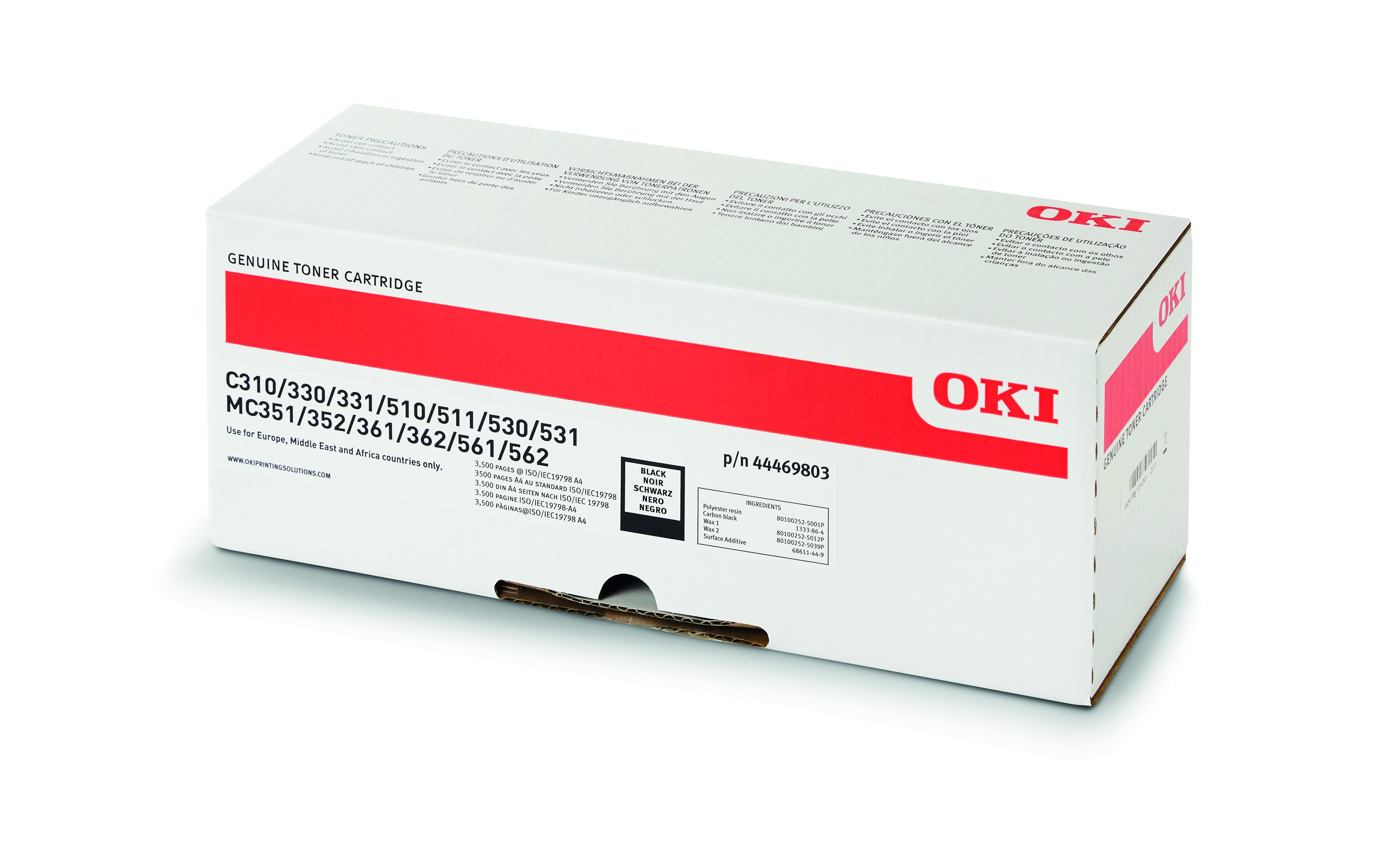 Oki C310/330/510/530/MC351 Toner Black 3,5K (Eredeti)