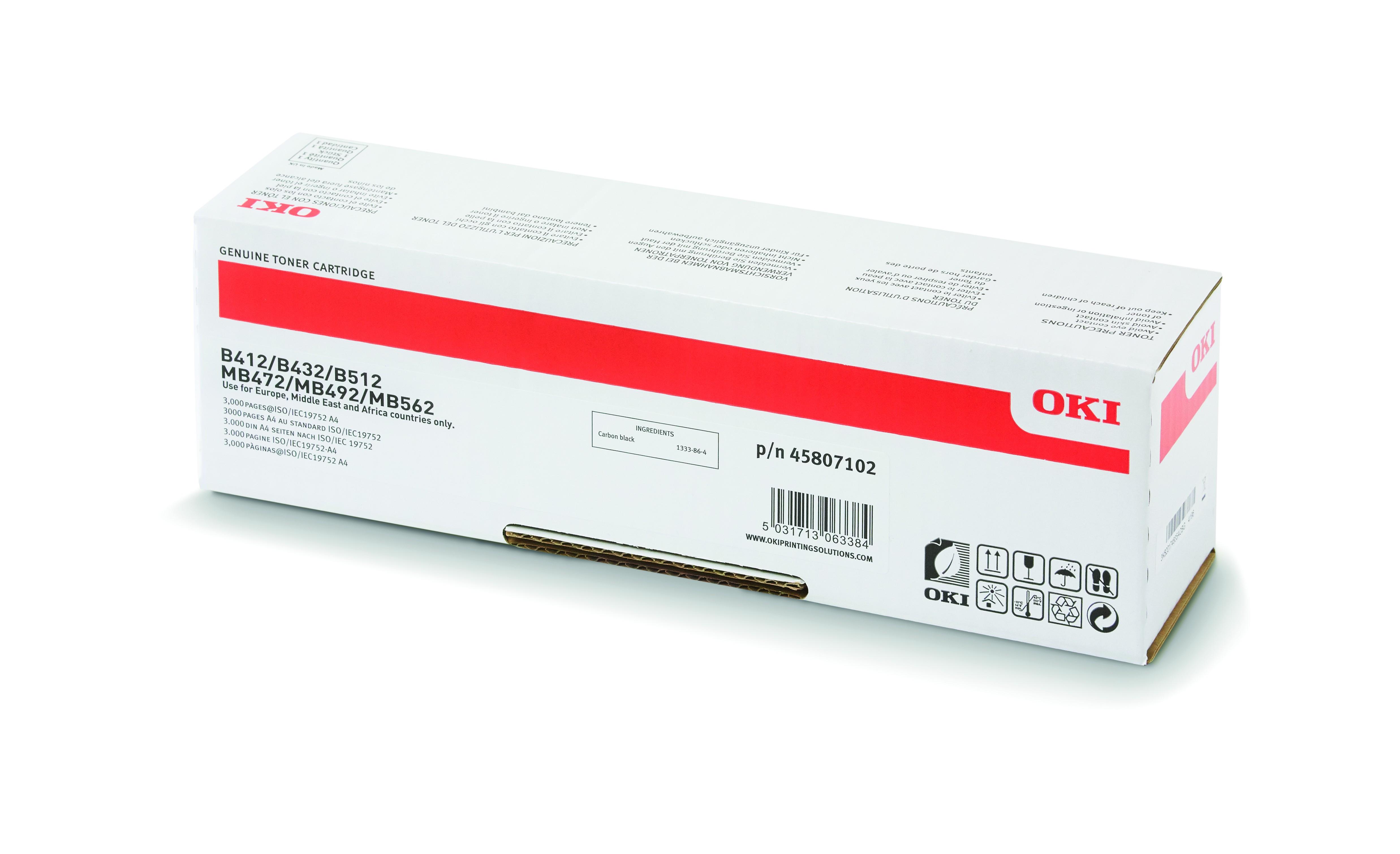 Oki B412/B432 Toner 3K (Eredeti)