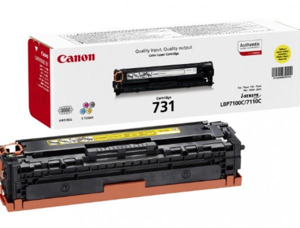 Canon CRG731 Toner - festékkazetta 1,5K sárga (Yellow), eredeti