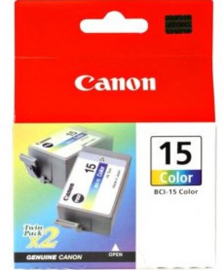 Canon BCI15 Tintapatron 2db-os szett - Ink Cartridge Duo-Pack 0,1K 7,5ml színes (Colour), eredeti