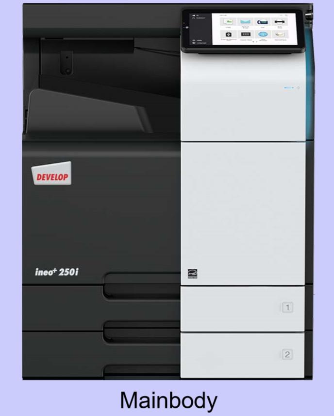 Develop ineo +250i Színes Másológép szett