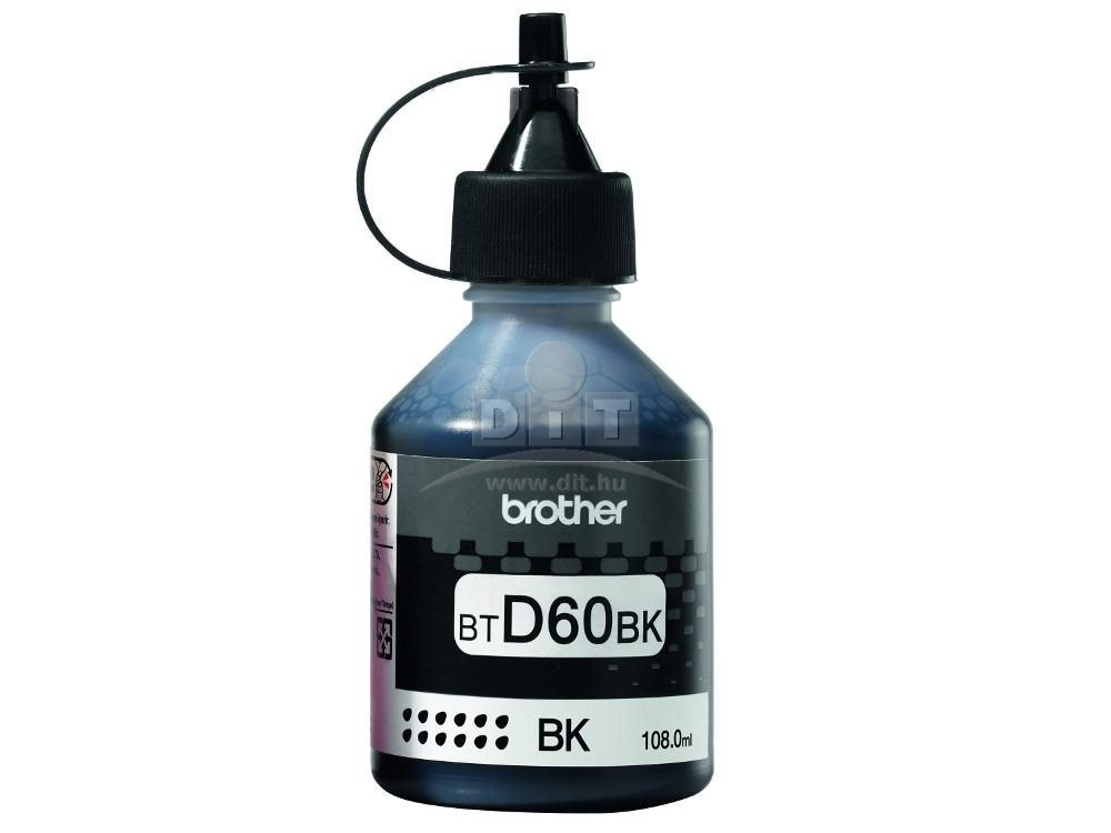 Brother BTD60BK Tinta - Ink bottle 6,5K Fekete (Black), eredeti