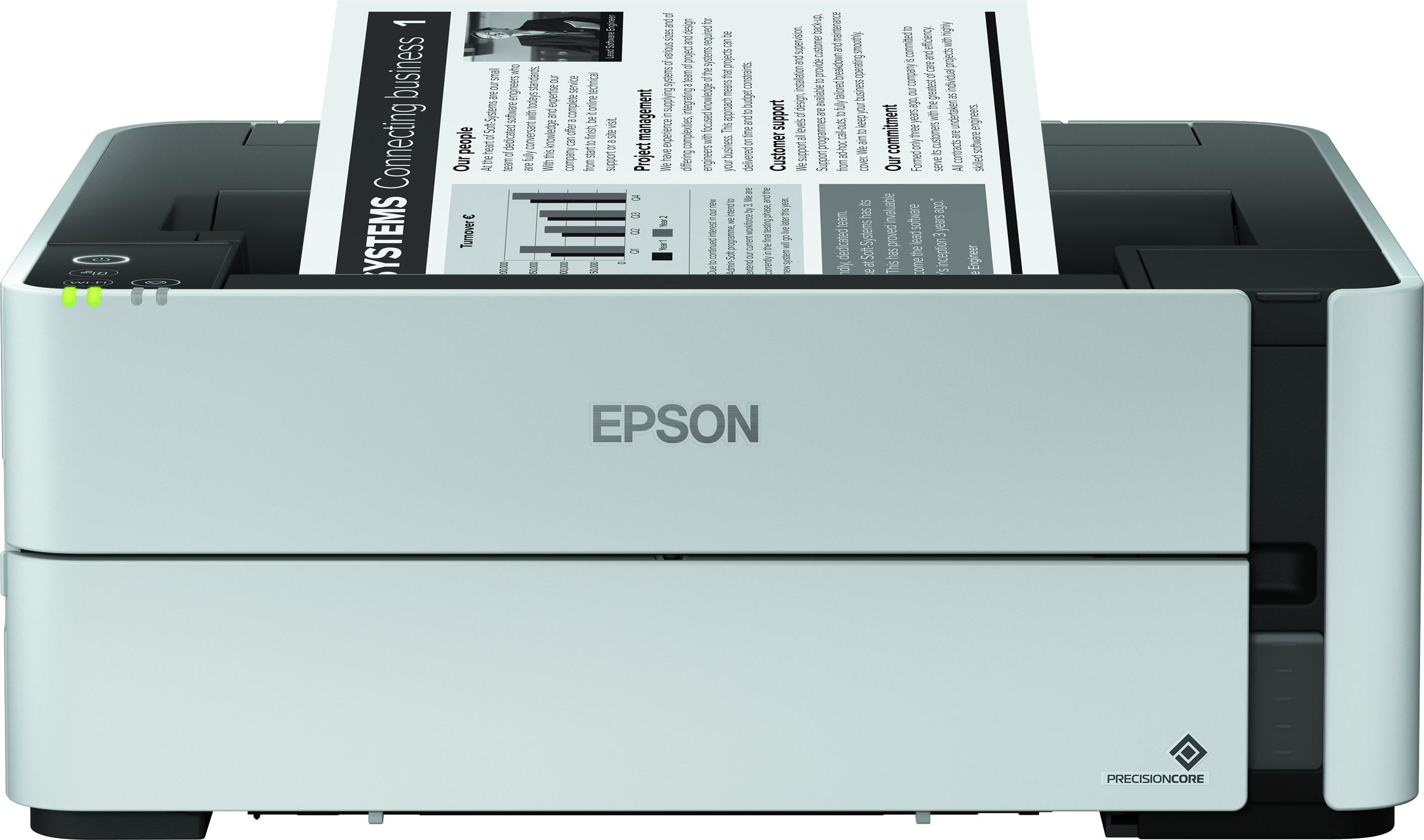 Epson EcoTank M1170 A4, mono, tintasugaras nyomtató hálózatos, Wi-Fi-s, duplex