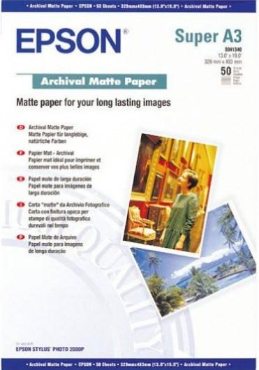 Epson A/3+ Archival Matt Fotópapír 50Lap 192g (Eredeti)