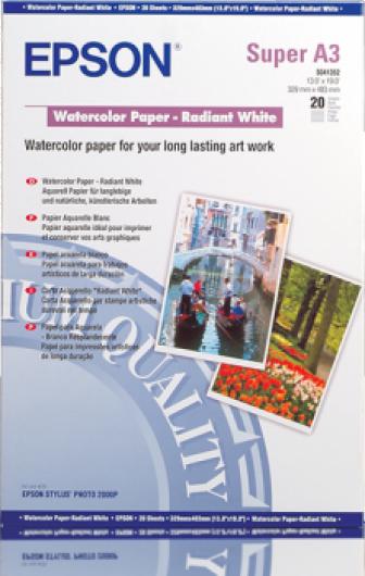 Epson A/3+ Watercolor Papír 20Lap 190g (Eredeti)