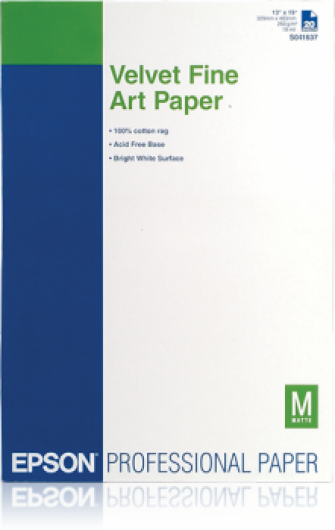 Epson A/3+ Velvet Fine Art Papír 20Lap 260g (Eredeti)