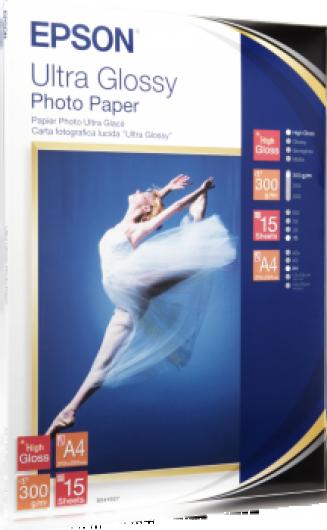 Epson A/4 Ultra Fényes Fotópapír 15Lap 300g (Eredeti)