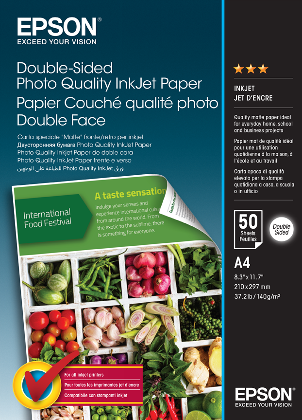 Epson A/4 Kétoldalas Fotópapír 50lap 120g