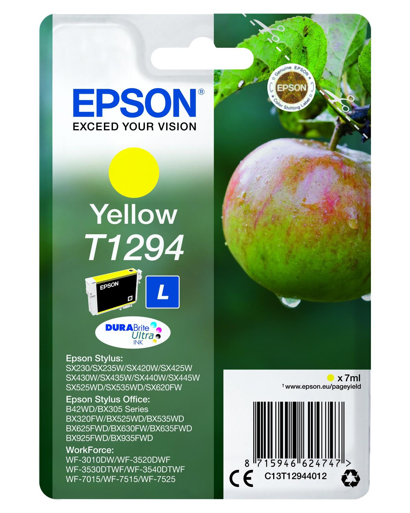 Epson  tintapatron - Ink Cartridge 0,6K, sárga (Yellow), eredeti