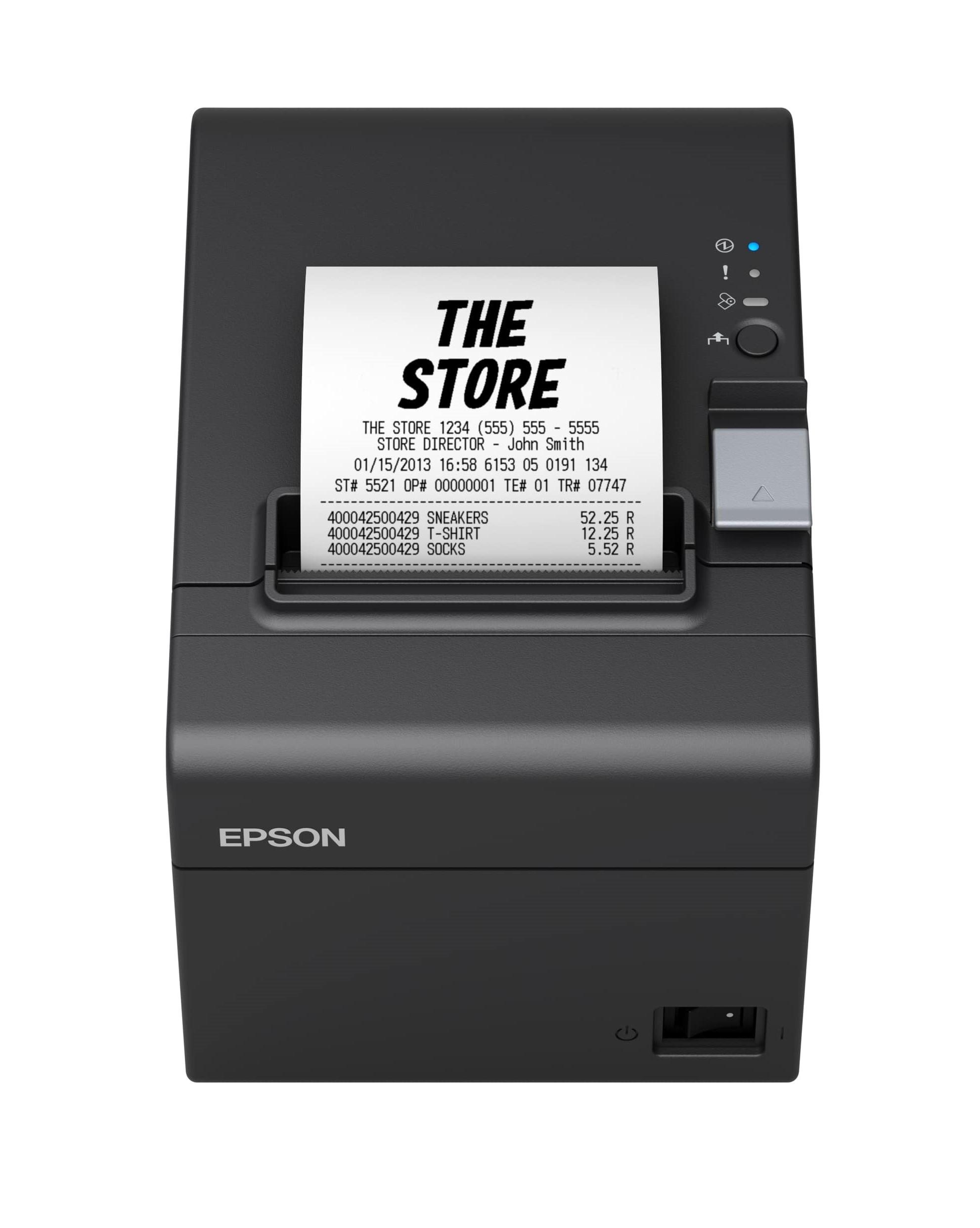 Epson Blokknyomtató - TM-T20III (011) (250mm/s, 203 DPI, 80mm, USB/RS-232, Fekete)