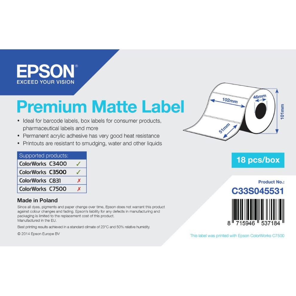 Epson 102mm*51mm matt címke