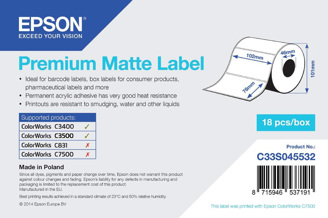 Epson 102mm*76mm, 440 inkjet matt címke