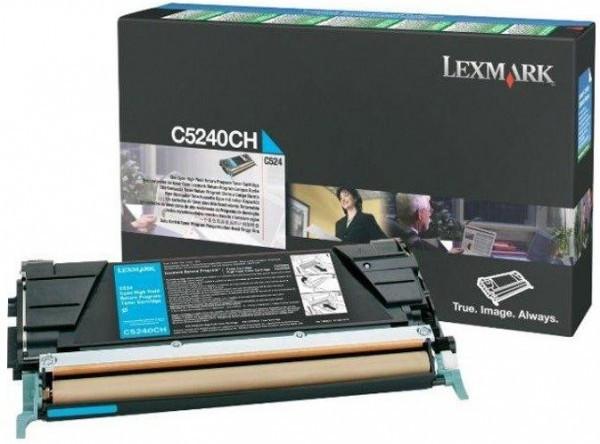 Lexmark C524/534 High Return Toner Cyan 5K (Eredeti) C5240CH