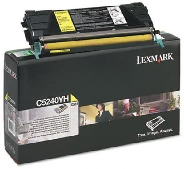 Lexmark C524/534 High Return Toner Yellow 5K (Eredeti) C5240YH