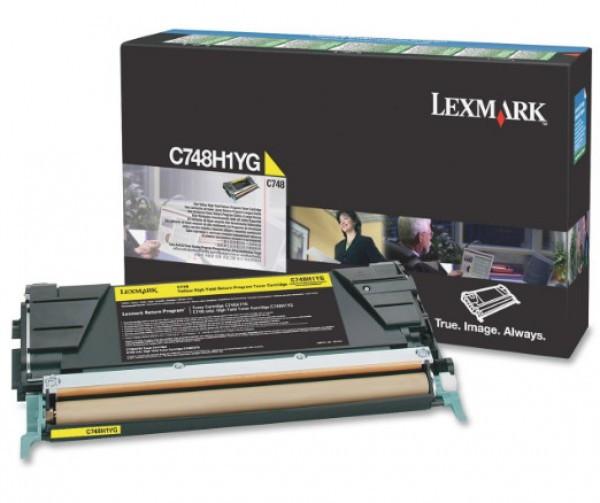 Lexmark C748 High Return Toner Yellow 10K (Eredeti) C748H1YG