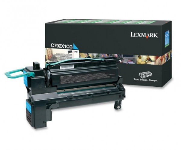Lexmark C792 Extra High Return Toner Cyan 20K (Eredeti) C792X1CG