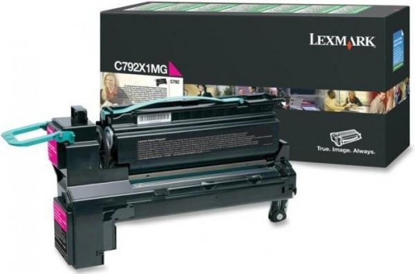 Lexmark C792 Extra High Return Toner Magenta 20K (Eredeti) C792X1MG