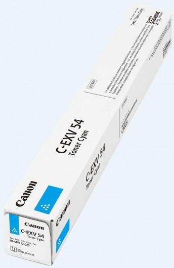 Canon C-EXV 54 Toner - festékkazetta 8,5K cián (kék), eredeti