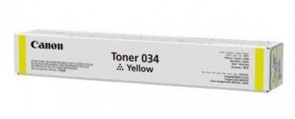 Canon iRC1225/034 Toner - festékkazetta 7,3K sárga (Yellow), eredeti