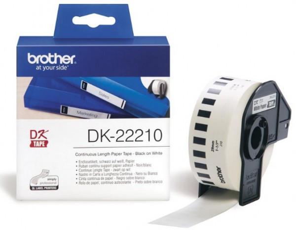 Brother DK22210 papírszalag (Eredeti)