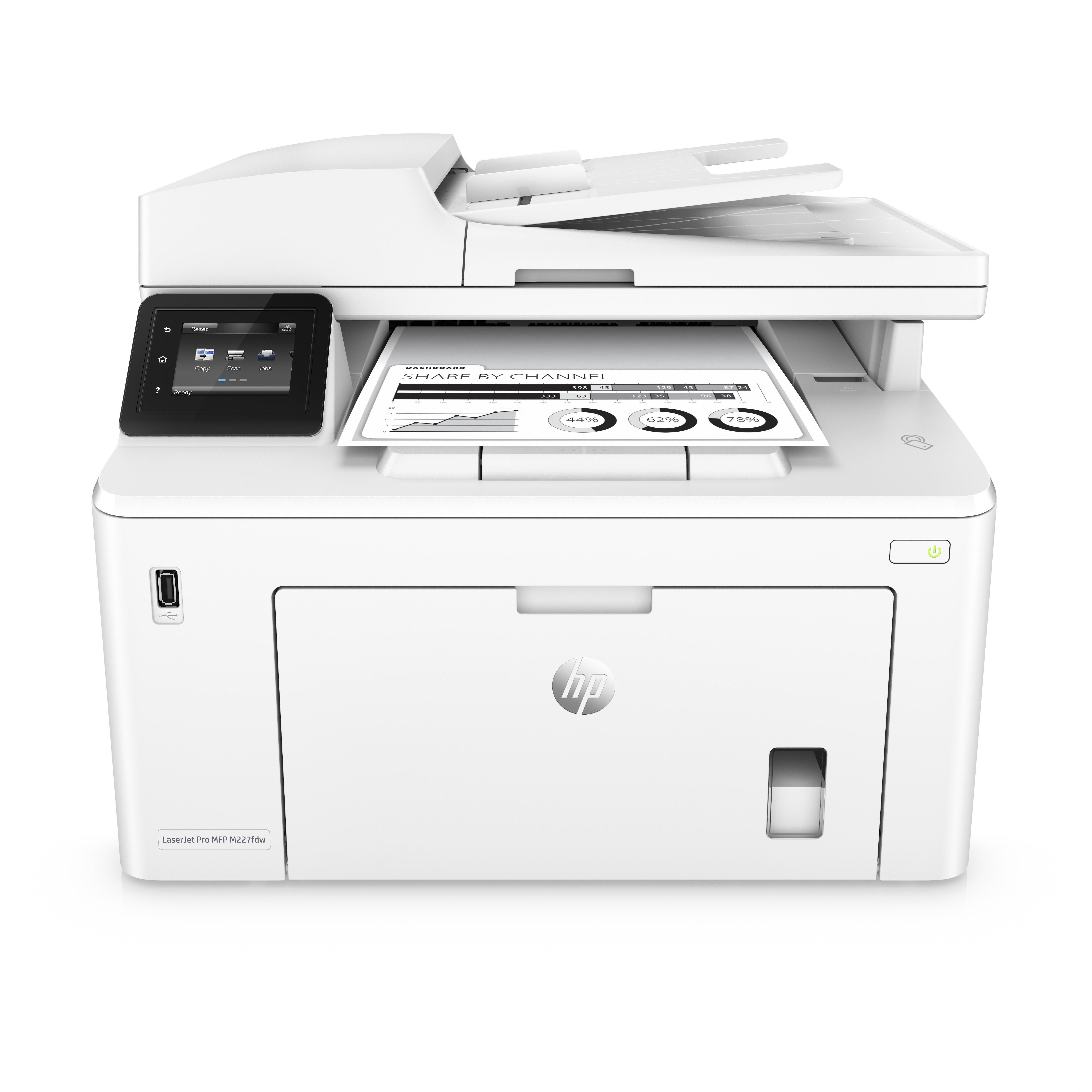 HP LaserJet Pro M227FDW A4, mono, lézer multifunkciós nyomtató hálózatos, Wi-Fi-s, duplex