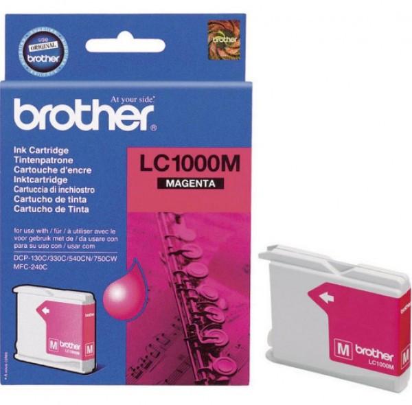 Brother LC1000-M Tintapatron - Ink Cartridge 0,4K magenta (bíbor), eredeti