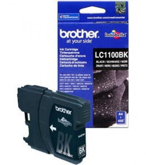 Brother LC1100BK Tintapatron - Ink Cartridge 0,45K fekete (Black), eredeti
