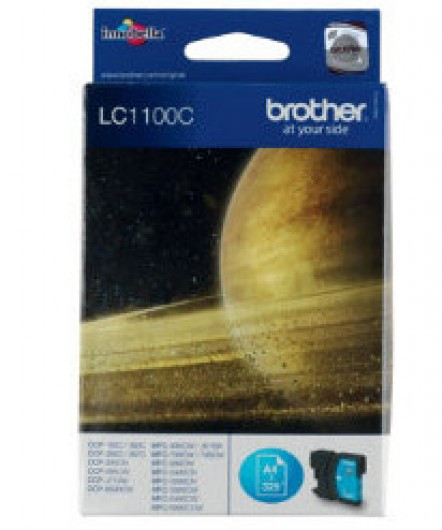 Brother LC1100-C Tintapatron - Ink Cartridge 0,325K cián (kék), eredeti