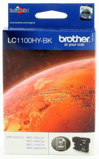 Brother LC1100HY-BK Tintapatron - Ink Cartridge 0,9K fekete (Black), eredeti